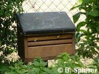 une petite maison en sureau pour accueillir les papillons