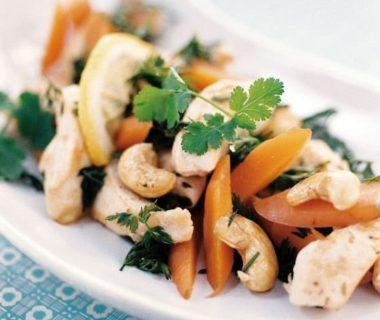 Fajitas de poulet aux fanes de carottes et au cidre