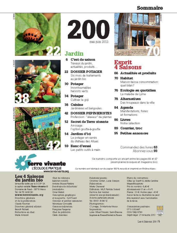 Les Quatre Saisons n°200 (numéro anniversaire) 1