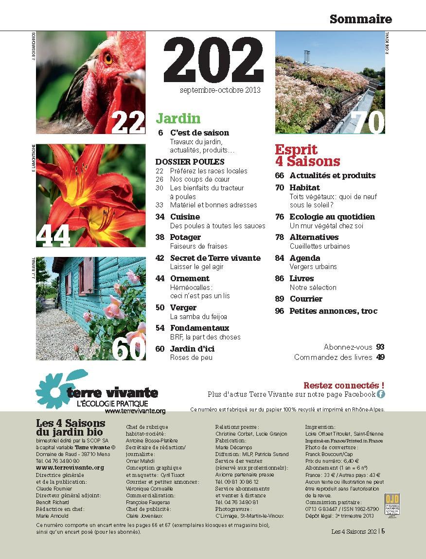 Les Quatre Saisons n°202 1
