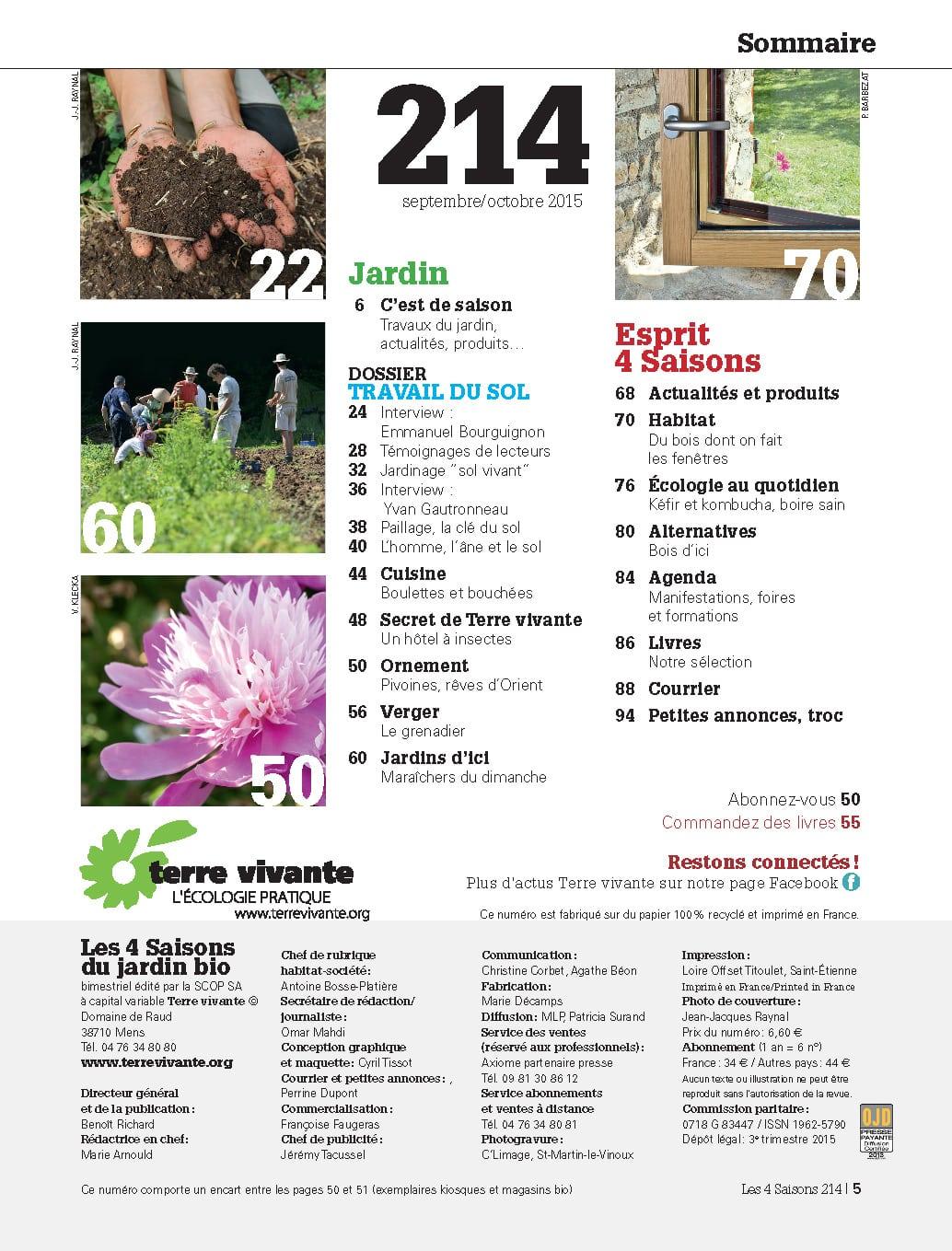 Les Quatre Saisons n°214 1