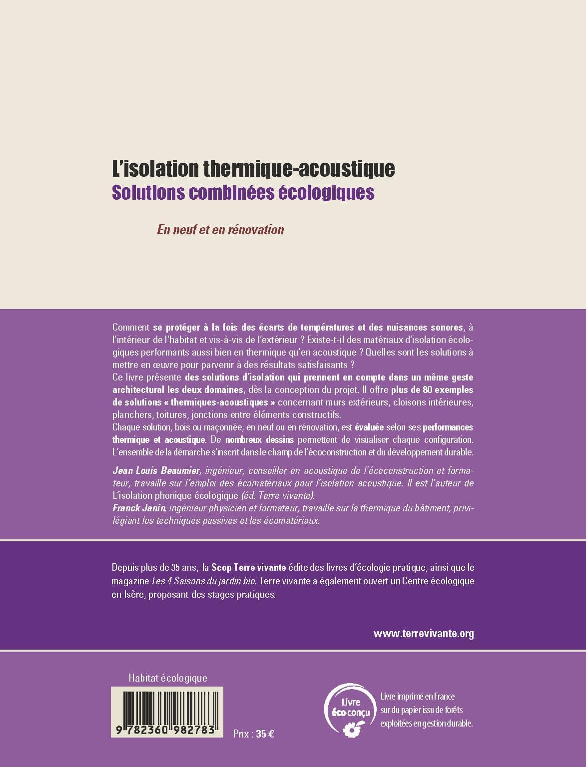 L'isolation thermique-acoustique 1