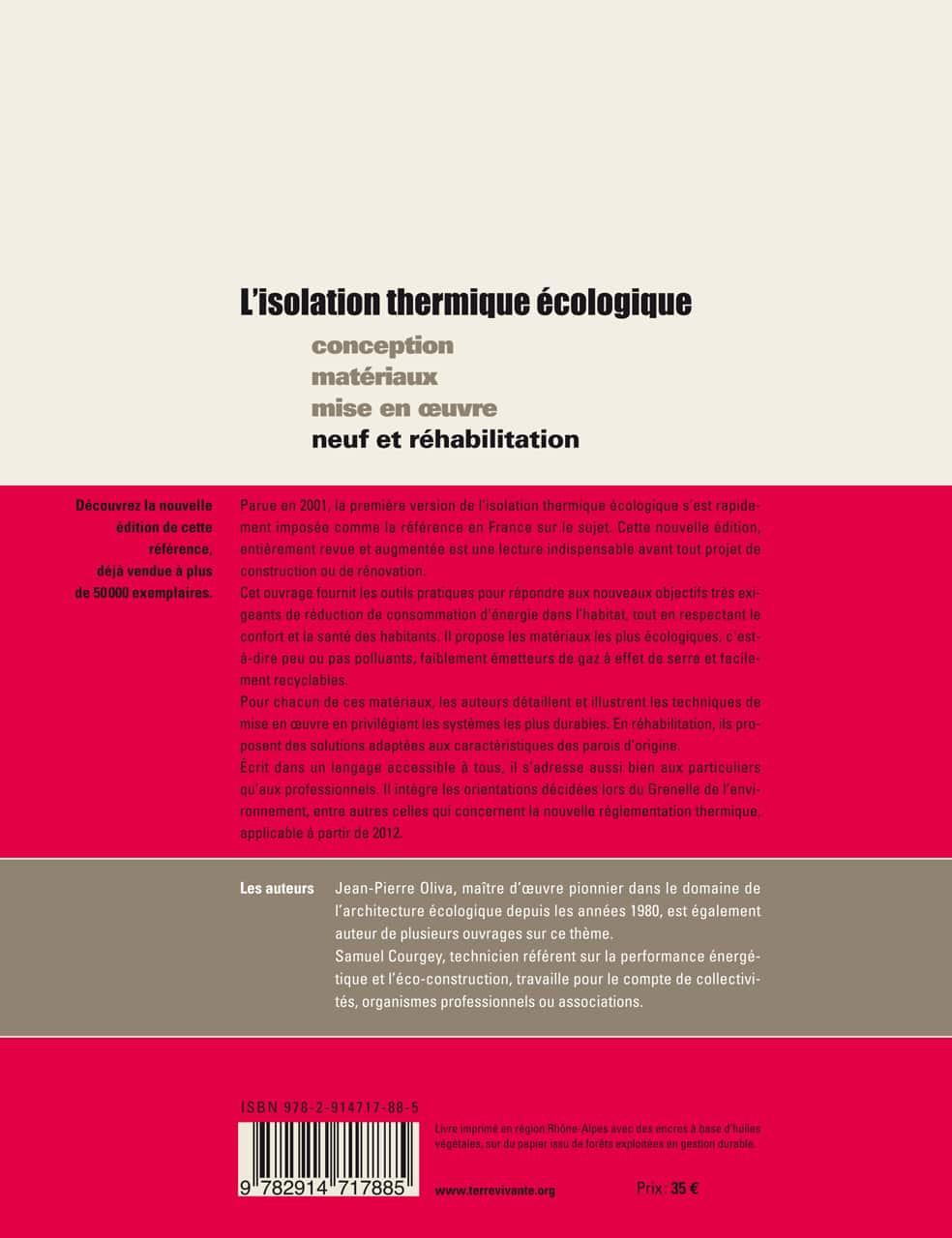 L'Isolation thermique écologique 1