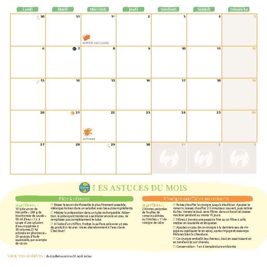 Le calendrier 2021 – Cette année je suis zéro déchet 5