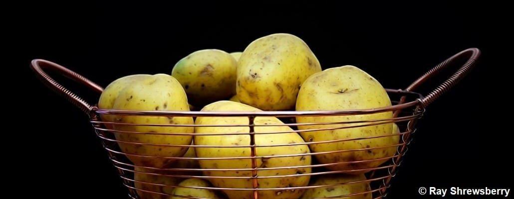 Saladier comportant des pommes de terre non épluchées