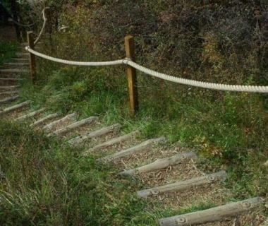 Comment construire un escalier de jardin en rondins de bois ? 4