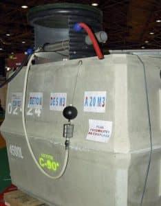 Cuve de 4500 litres pour récupérer l'eau de pluie