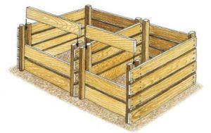 Dessin de la réalisation de deux portes frontales sur le silo