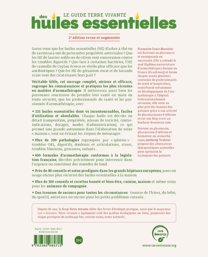 Le guide Terre vivante des huiles essentielles - Nouvelle édition 1