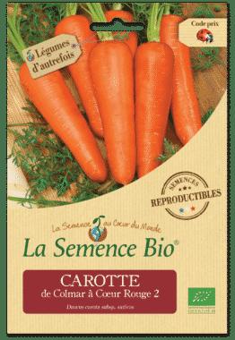 Graines Carotte de Colmar à Cœur Rouge Bio - La semence bio