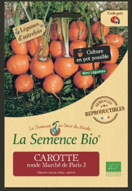 Graines Carotte ronde marché de Paris 3 bio - La semence bio
