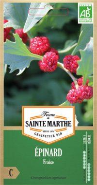 Graines Epinard fraise bio - Ferme de Sainte Marthe 2