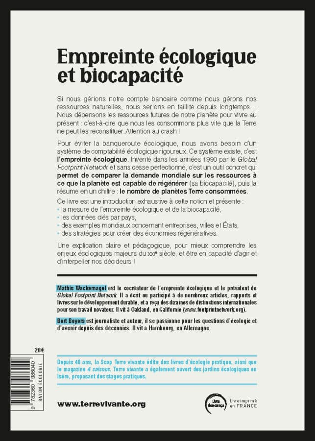 Empreinte écologique et biocapacité 1