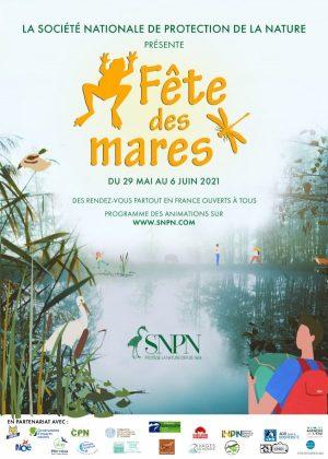 Affiche Fête des mares 2021, SNPN