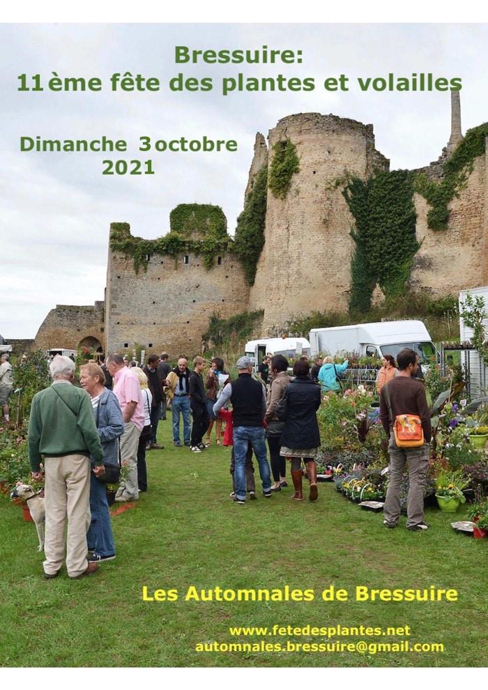 11ème fête des Plantes, le 3 octobre 2021   Bressuire (79)