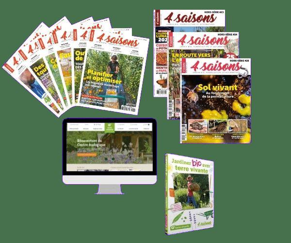 """Offre Esprit + DVD """"Jardiner bio avec Terre vivante"""" – Saison 2"""