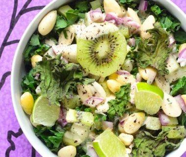 Salade de chou kale aux amandes