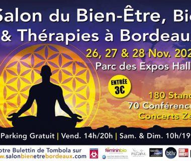 Salon du Bien-être, Bio et Thérapies du 26 au 28 novembre | Bordeaux (33)