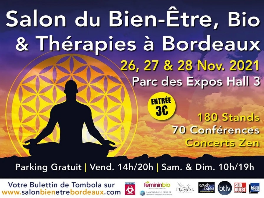Salon du Bien-être, Bio et Thérapies du 26 au 28 novembre   Bordeaux (33)