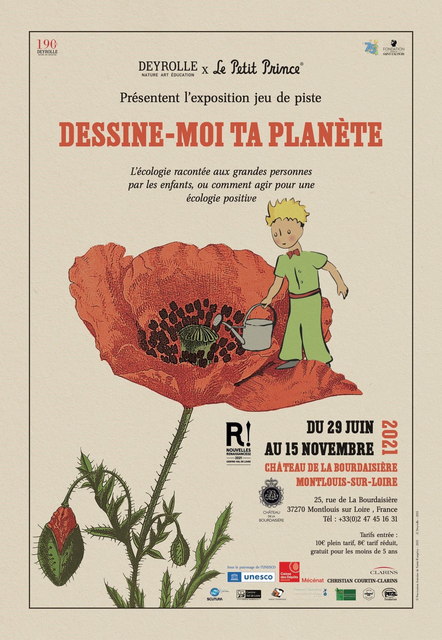 Agir pour une écologie positive avec le Petit Prince au château de la Bourdaisière 1