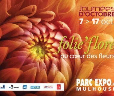 Folie'Flore, au cœur des fleurs, du 7 au 17 octobre 2021   Mulhouse (68)