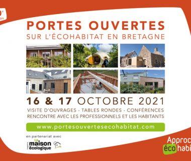 Portes ouvertes sur l'écohabitat en Bretagne, les 16 et 17 octobre 2021   Bretagne (divers lieux)