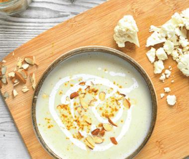 Velouté de millet chou-fleur et crème coco