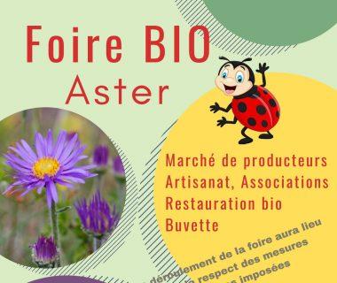 Foire bio Aster, le 3 octobre 2021 | Veyrac (87)