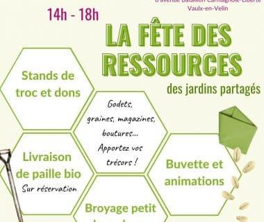 La Fête des Ressources des jardins partagés, le 2 octobre 2021 | Vaulx-en-Velin (69)
